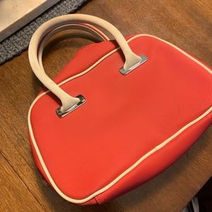 Red Lacoste Mini bowling bag